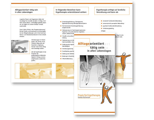 Gestaltung eines Info-Parxisflyers sowie die Erstellung der Druckvorlage