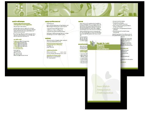 Konzept, Entwurf und Druckumsetzung für einen Informations-Flyer