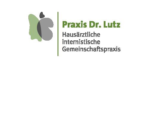 Aufwendige Logoentwicklung mit mehreren Präsentationsstufen für die neue Geschäftsausstattung der Gemeinschaftspraxis Dr. Lutz.