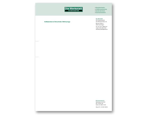 Gestaltung einen neuen Briefkopfes und Erstellung der Druckvorlage